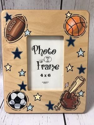 4x6 Wooden Frame - Sports Design | Picture Frames
