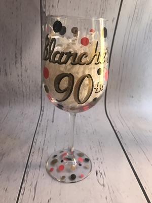 Wine Glass  Name W/ Date | Wine Glasses