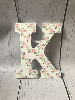 Painted Letter-New Rose | Kids Wall Letters