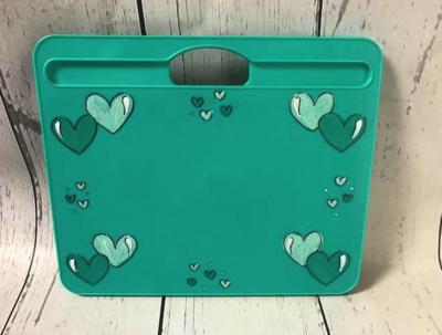Lap Desk Teal / Hearts | Lap Trays