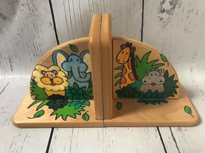 Bookends - Natural / Jungle | Kids Bookends