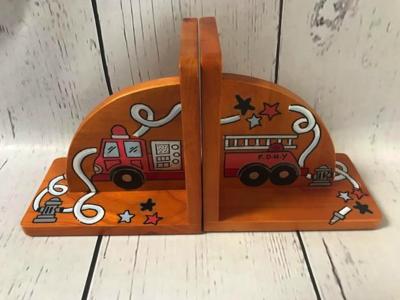 Bookends - Honey / Fire Truck | Kids Bookends