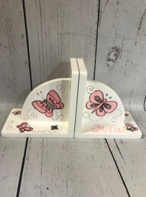 Bookends - Butterflys / pink | Kids Bookends