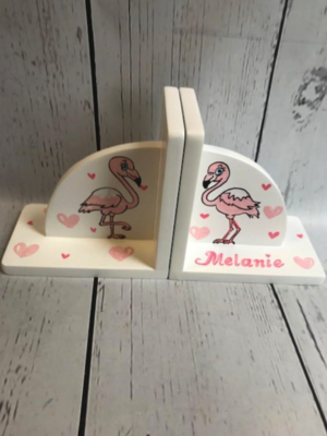 Bookends - Flamingo | Kids Bookends