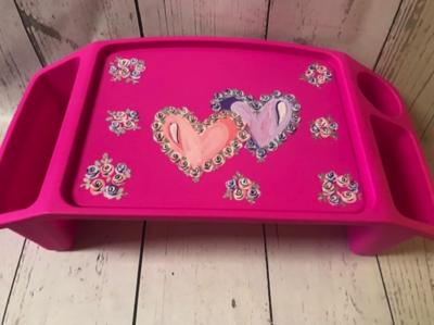 Lap Tray - Double Hearts | Lap Trays