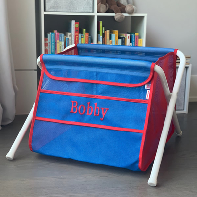 Mesh Toy Box - Blue & Red | Mesh Toy Boxes