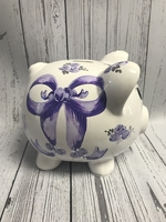 Image Piggy Bank - Purple Bow