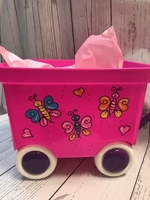 Image Pull Wagon - Pink Butterfly