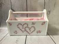 Image Wooden Storage Caddy - Pink Rosebud