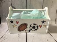 Image Wooden Storage Caddy - Sports