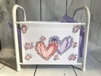 Image Book Basket - Double Hearts