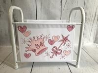 Image Book Basket - Pink Crown