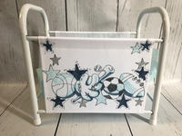 Image Book Basket - Blue & Gray