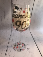 Image Wine Glass  Name W/ Date