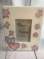 Image 4x6 Wood Frame-Double Hearts
