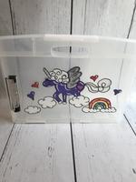 Image Clip Case/Purple Unicorn