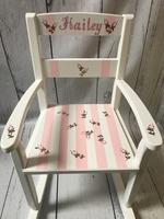 Image Rocking Chair/Stripe/Roses