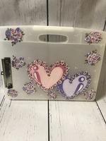 Image Clip Case /Double Hearts
