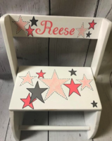Image Small ~ Flip Stools - Pink & Silver Stars