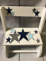 Image Small ~ Flip Stools - Blue & Silver Stars