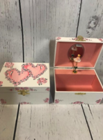 Image Jewelry Box -  Double Heart Pink & Pink