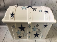 Image Treasure Box - Stars Blue & Silver