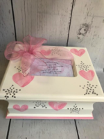 Image Memory Box  Soft Hearts / Silver Stars