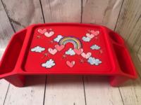 Image Lap Tray - Rainbow