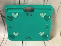 Image Lap Desk Teal / Hearts