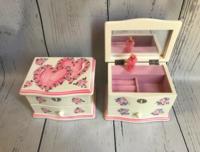 Image Jewel Box - Double Hearts / Pink