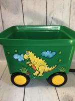 Image Pull Wagon - Green / Yellow Dino