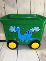Image Pull Wagon - Green / Blue Dino