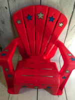 Image Adirondack Chair - Red chair / Stars