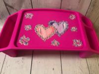 Image Lap Tray - Double Hearts