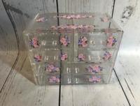 Image Jewel Box - Lilac Roses / Clear Acrylic Jewelry Box