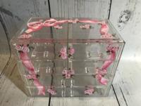 Image Jewel Box - Pink Ribbon / Clear Acrylic Jewelry Box copy