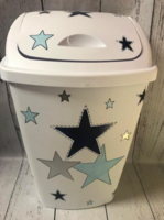 Image Hamper  Stars  navy  / Light blue / silver