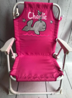 Image Beach Chair With Umbrella / Silver Whale