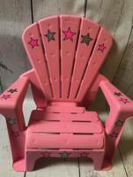 Image Adirondack Chair - Pink Chair W/ Stars