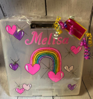 Image Art case Rainbow & Hearts