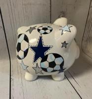 Image Piggy Bank - Soccer & Stars