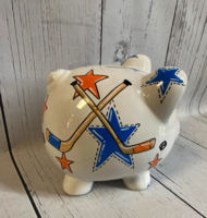 Image Piggy Bank - Hockey & Stars