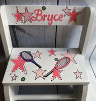 Image Small ~ Flip Stools - Tennis & Stars