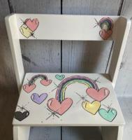 Image Small ~ Flip Stools - Pastel Rainbow & Hearts