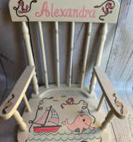 Image Rocking Chairs  Pink/ Anchor/Whale
