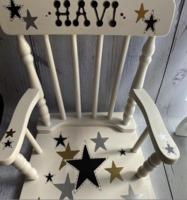 Image Rocking Chairs  Gray/Gold Stars