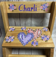 Image Large ~ Flip Stool -  Natural Double Heart copy