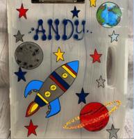 Image Art Case - Rocket / Planets