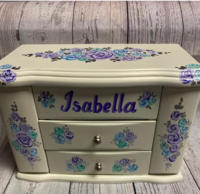 Image Jewelry Box -  Two Drawer Roses