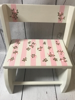 Image Small ~ Flip Stools-Stripes and Roses